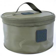 Ведро мягкое с крышкой + сито KORUM EVA Groundbait & Riddle Set 25x15cm