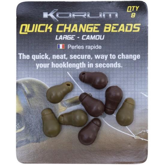 Бусина-отбойник с застежкой KORUM Quick Change Bead 8шт.
