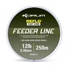 Леска фидерная KORUM REFLO FEEDER LINE MONO 250m