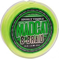 Леска плетеная MADCAT 8-BRAID HI-VIS GREEN