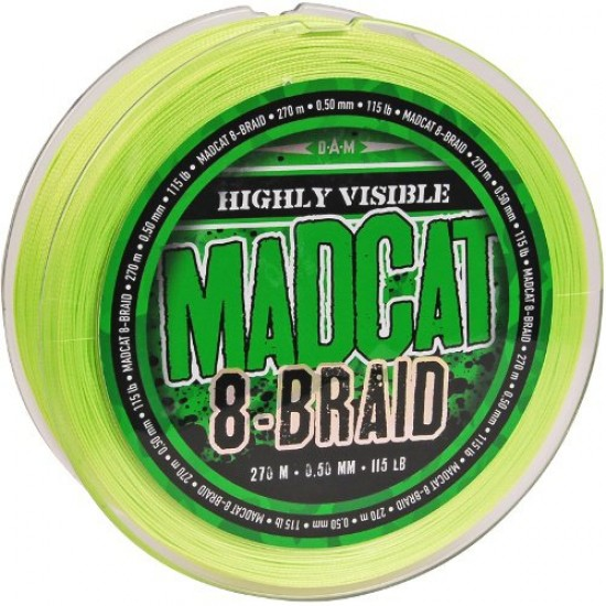 Леска плетеная MADCAT 8-BRAID HI-VIS GREEN