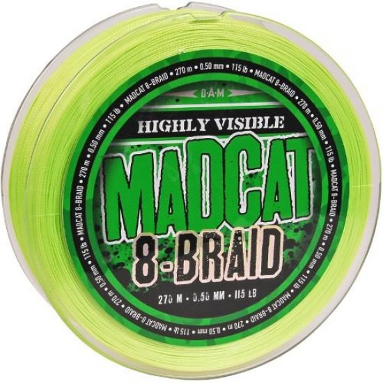 Леска плетеная MADCAT DISTANCE 8-BRAID Hi Vis Green