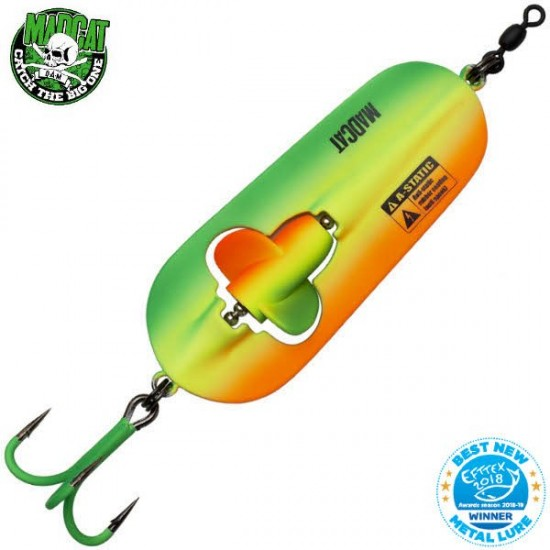 Блесна колеблющаяся MADCAT A-STATIC RATTLIN' SPOON - 110g - FIRETIGER