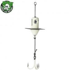 Блесна вертикальная MADCAT A-STATIC SILENT TEASER Treble Hook - GLOW-IN-THE-DARK