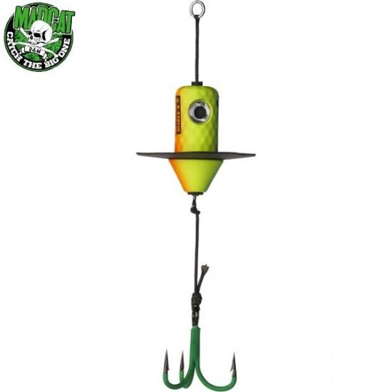 Блесна вертикальная MADCAT A-STATIC SILENT TEASER Treble Hook - FIRETIGER UV