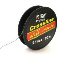 Поводковый материал в оболочке MIKA PRODUCTS Crossline 25lb 20m