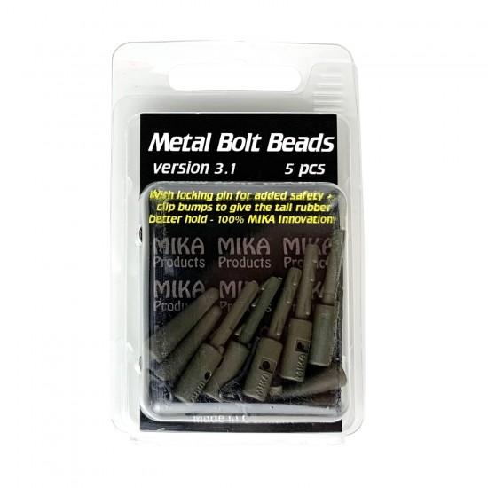 Безопасная клипса для грузил с конусом MIKA PRODUCTS Metal Bolt Beads 3.1 5шт
