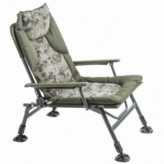Кресло карповое с подлокотниками MIVARDI CamoCODE ARM