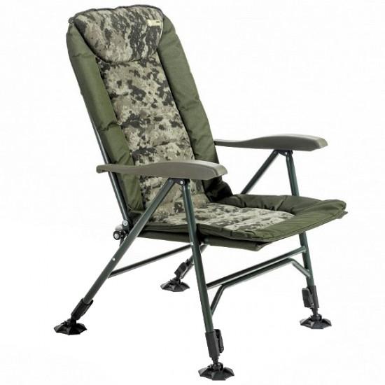 Кресло карповое с подлокотниками MIVARDI CamoCODE QUATTRO