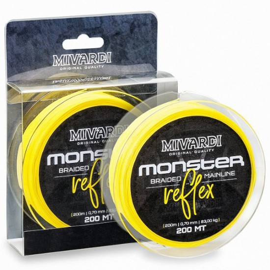Леска плетеная MIVARDI MONSTER REFLEX Braid 200m Fluoro Yellow