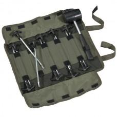 Колышки для палатки + молоток MIVARDI Peg Set + Hammer