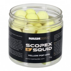Бойлы плавающие Nash Bait SCOPEX SQUID Pop Ups YELLOW Boilies 12мм