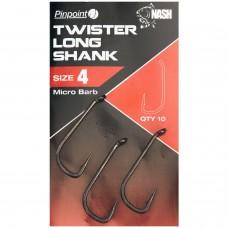 Крючки карповые NASH Pinpoint Twister Long Shank