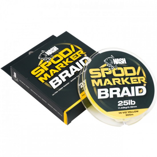 Леска плетеная NASH Spod and Marker Braid Hi-Viz Yellow