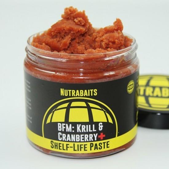 Паста для бойлов Nutrabaits BFM: KRILL & CRANBERRY+ Shelf-Life Paste