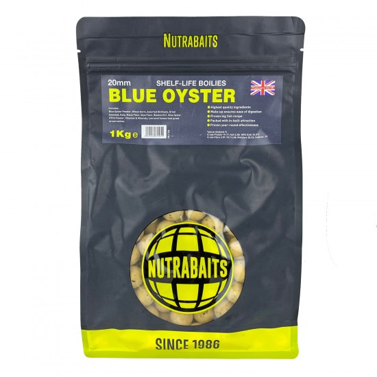 Бойлы тонущие Nutrabaits Shelf-Life BLUE OYSTER 20мм 1кг