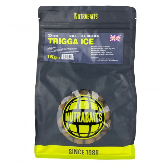 Бойлы тонущие Nutrabaits Shelf-Life TRIGGA ICE 20мм 1кг