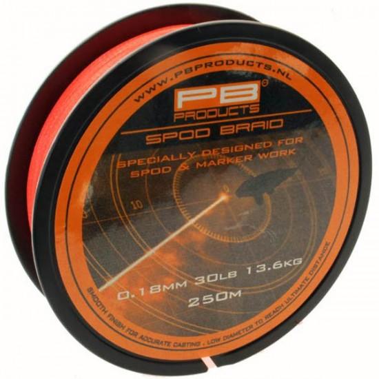 Леска плетеная PB Products SPOD & MARKER Braid 0.18mm 250m Fluo Orange