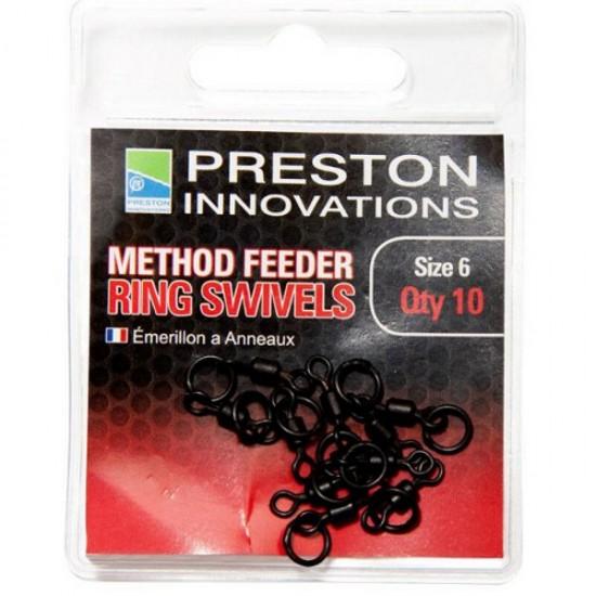 Вертлюг с кольцом для кормушек Preston Innovations METHOD FEEDER RING SWIVELS №6