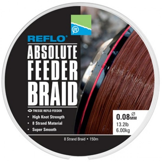 Леска фидерная плетеная Preston Innovations REFLO ABSOLUTE FEEDER BRAID 150m