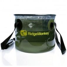 Ведро мягкое полупрозрачное Ridge Monkey Perspective Collapsible Bucket 10/15L