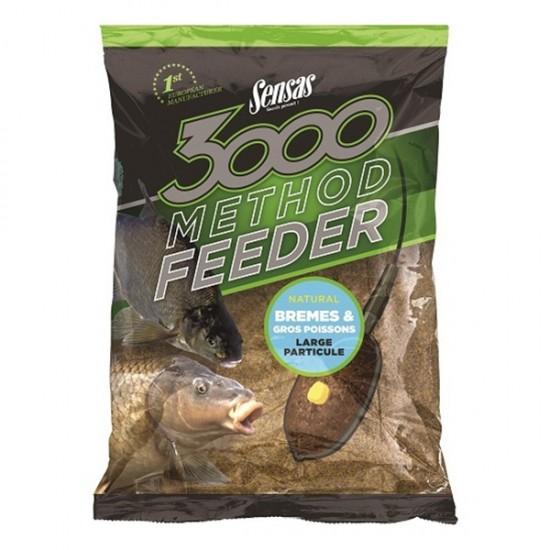 Прикормка методная Sensas 3000 Method Feeder BREAM&BIG FISH 1кг