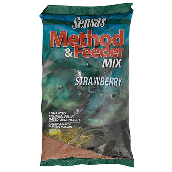 Прикормка Sensas 3000 METHOD FEEDER Strawberry (метод фидер клубника) 1кг