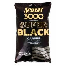 Прикормка Sensas 3000 Super Black CARP (черный карп) 1кг