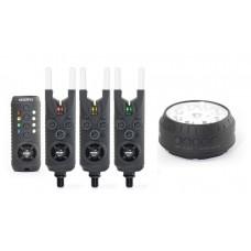Комплекты сигнализаторов поклевки с лампой SONIK GIZMO ALARM & RECEIVER SET 3+1/4+1