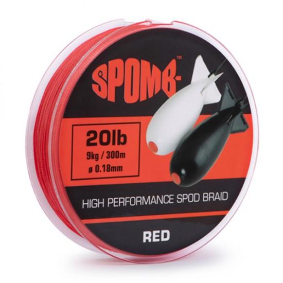 Леска плетеная Spomb Braid 20lb 0.18mm Red 300m