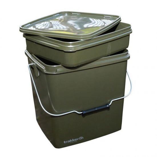 Ведро с контейнером Trakker Olive Square Container 13L