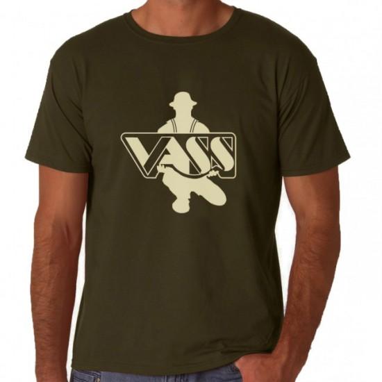 Футболка VASS Printed T-Shirt Khaki