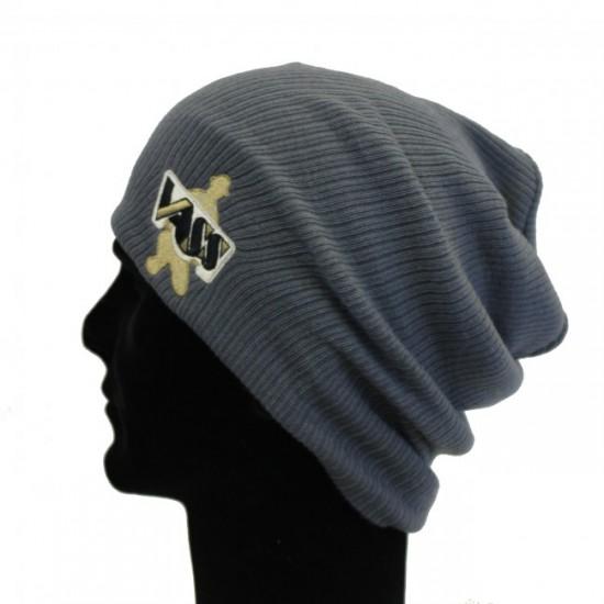 Шапка VASS Slouch Beanie Hat Smoke Grey (серая)