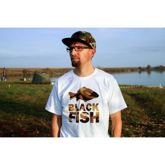 Футболка Black Fish T-Shirt White & Camo