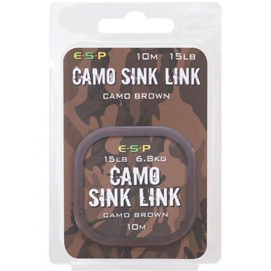 Поводковый материал ESP CAMO SINK LINK Camo Brown 10m