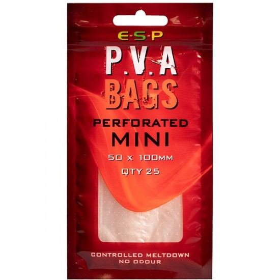ПВА пакеты ESP PVA Perforated Bags Mini 50x100mm 25шт.