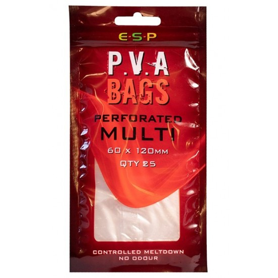ПВА пакеты ESP PVA Perforated Bags Multi 60x120mm 25шт.