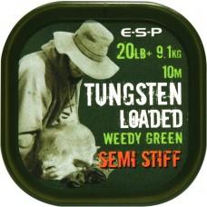 Поводковый материал ESP TUNGSTEN LOADED SEMI STIFF 20lb 10m