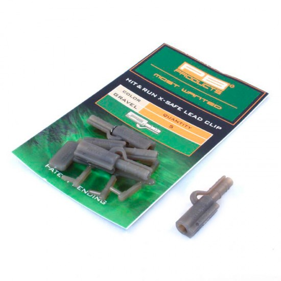 Безопасная клипса для грузил PB Products Hit&Run X-Safe Leadclip Gravel